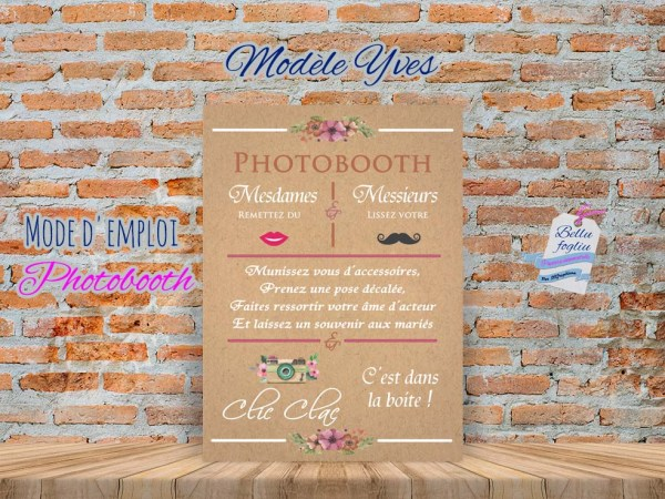 Mode d'emploi Photobooth