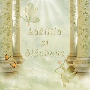 faire-part mariage ange paradis or et blanc