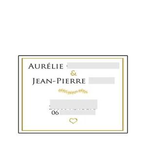 faire-part mariage pochette ciselée gold doré
