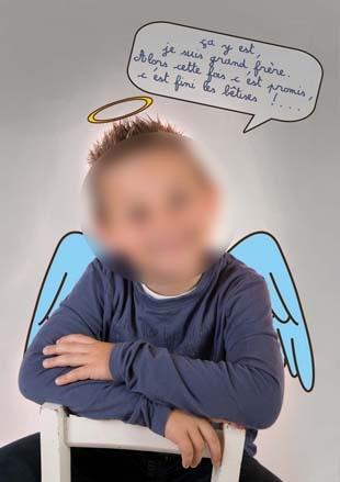 faire-part naissance grand frère bêtise ange démon