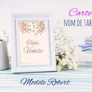 Cartes marque tables numéro ou nom de table
