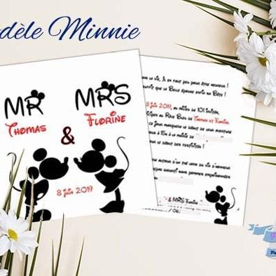 faire-part mariage mickey minnie disney