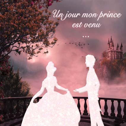 faire-part mariage disney prince et princesse