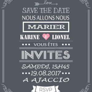 save the date mariage gris ardoise