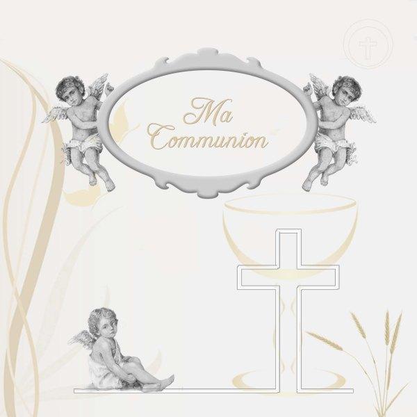 faire-part bapteme communion ange ancien