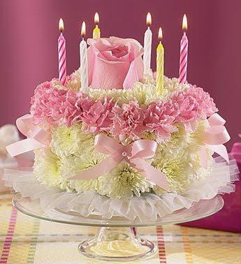 Birthday Flower Cake Arrangement In Minneapolis Mn Schaaf Floral