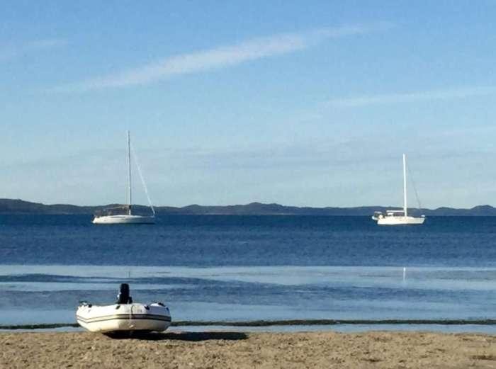 The beach on Peel Island