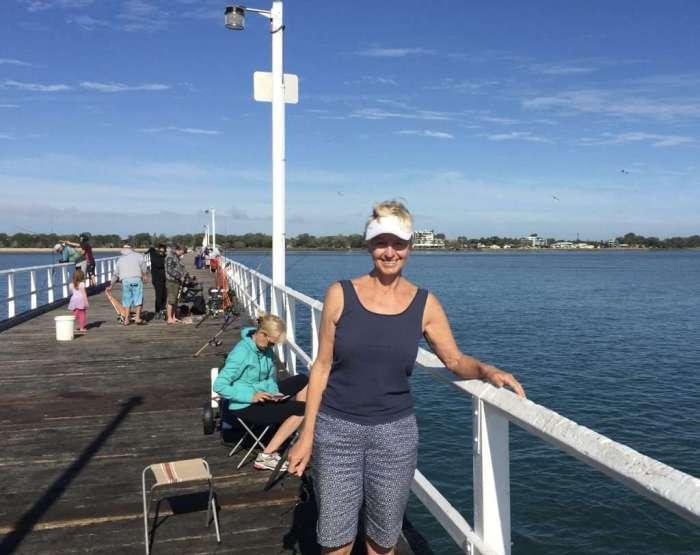 Annie at Pier's end