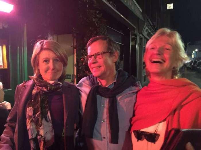 Dawn, Derek and Annie late night.