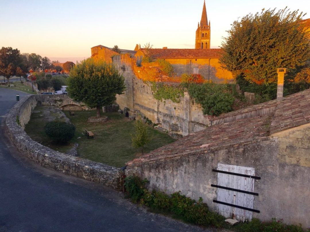 Riding into St Emilion late afternoon.