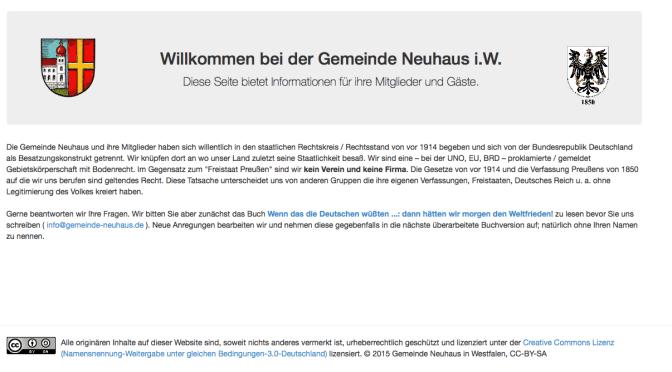 Gemeinde Neuhaus im Internet