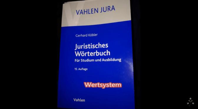 Juristisches Wörterbuch AUFLÖSUNG !!!