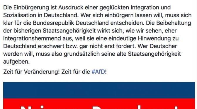 Die Alternative für Deutschland ist ein System-U-Boot vom Feinsten!