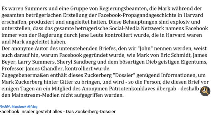 Facebook Insider gesteht alles – Das Zuckerberg-Dossier