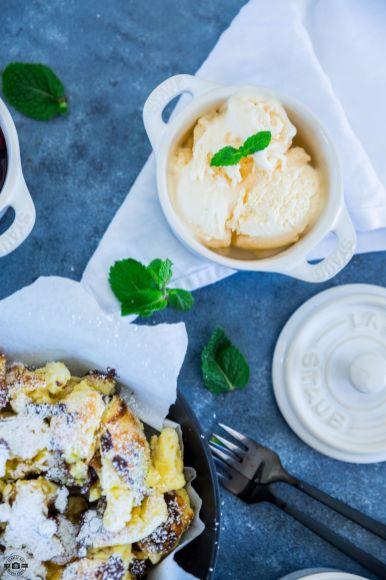 Schoko-Kaiserschmarrn mit Kirschen und Vanilleeis 4
