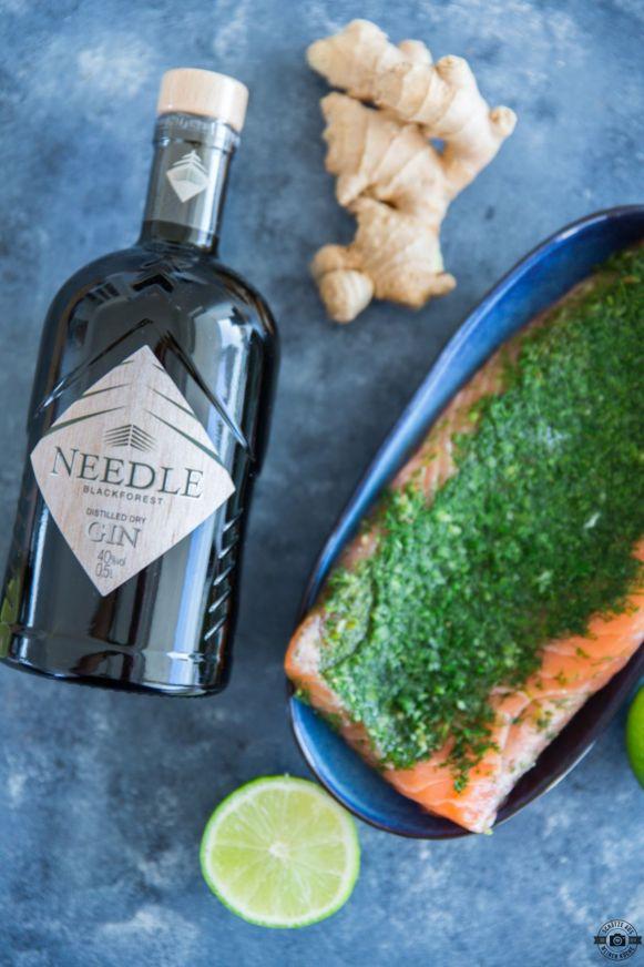 Needle Gin Gebeizter Lachs Munich Mule 1
