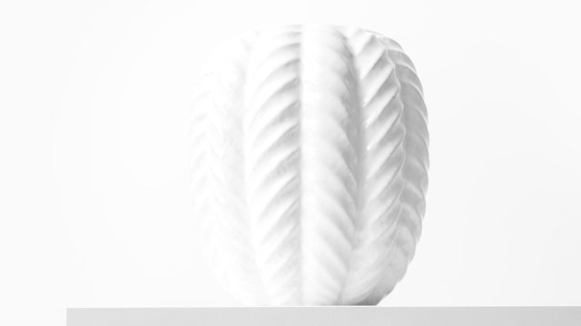 White ceramic vase by Michael Andersen & Son at Studio Schalling