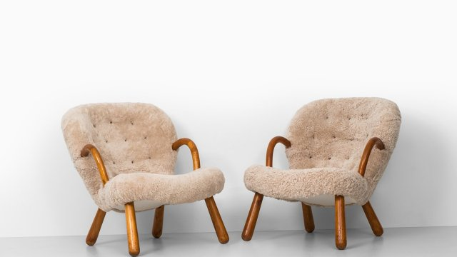 Philip Arctander clam easy chairs at Studio Schalling