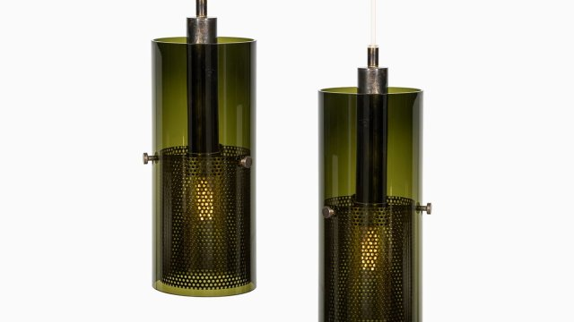 Rare pair of ceiling lamps by Hans-Agne Jakobsson at Studio Schalling