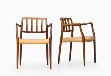 Niels O. Møller dining chairs model 83 and model 66 at Studio Schalling