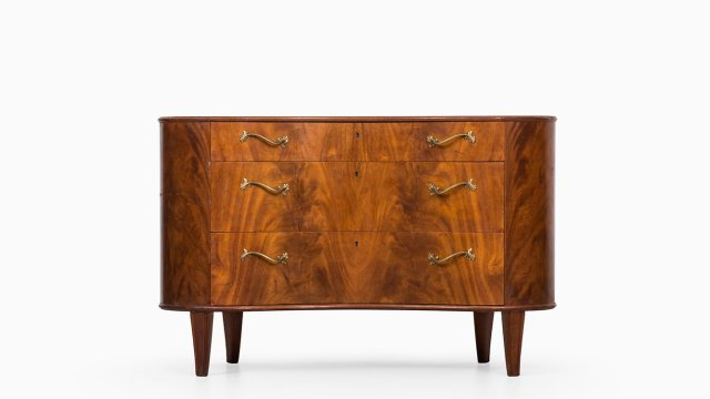 Bodafors bureau in mahogany and birch at Studio Schalling