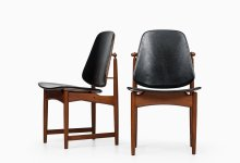 Arne Hovmand-Olsen dining chairs in teak at Studio Schalling