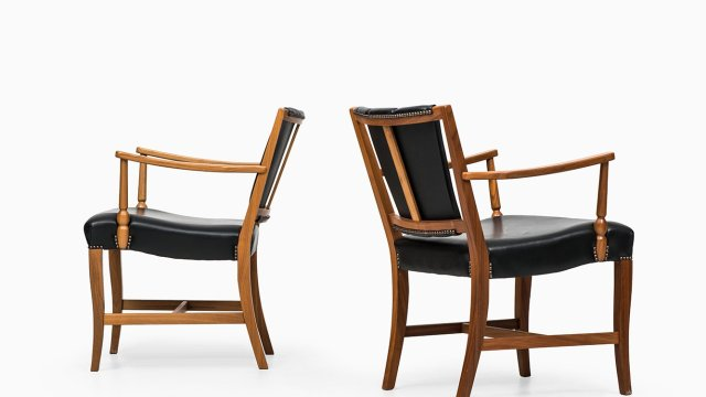 Josef Frank easy chairs by Svenskt Tenn at Studio Schalling