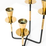 Candlestick in brass by Nils Johan at Studio Schalling