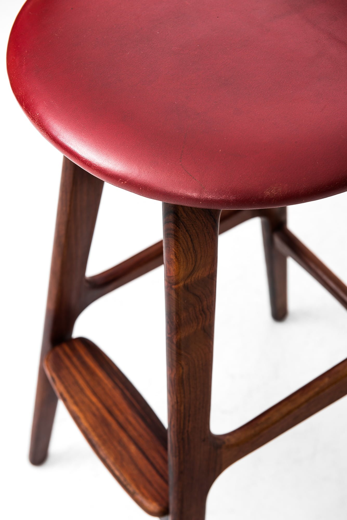 Buch bar stools model OD 61 in rosewood at Studio Schalling