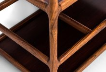 Henning Korch trolley in rosewood at Studio Schalling