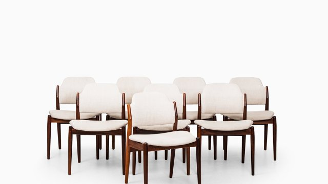 Arne Vodder dining chairs model 462 at Studio Schalling