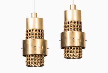 Pierre Forsell ceiling lamps in brass at Studio Schalling