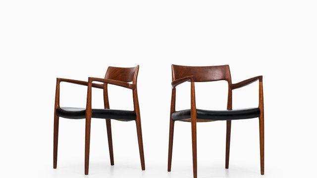Niels O. Møller armchairs model 57 in teak at Studio Schalling