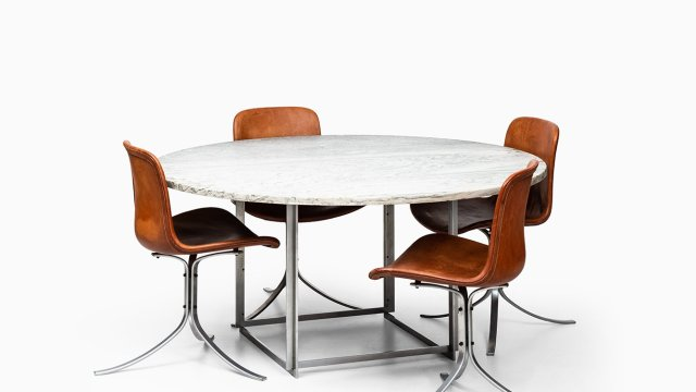 Poul Kjærholm PK-54 dining table by E. Kold Christensen at Studio Schalling
