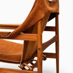 Hans Olsen easy chairs in teak and suede at Studio Schalling