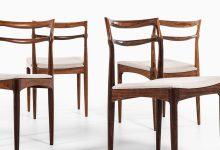 Johannes Andersen dining chairs in rosewood at Studio Schalling