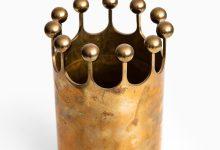 Pierre Forsell vase in brass by Skultuna at Studio Schalling