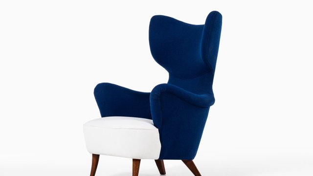 Easy chair in the manner of G.A Berg at Studio Schalling