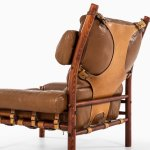 Arne Norell Inca easy chair in brown leather at Studio Schalling