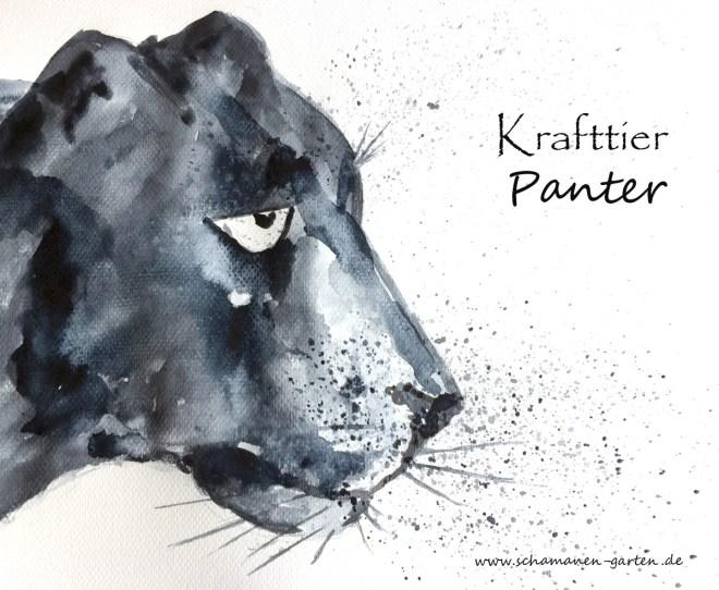 Krafttier Panter, gemalt
