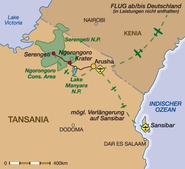 Tansania & Sansibar – Höhepunkte