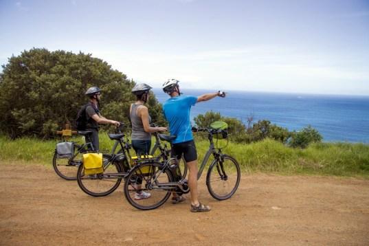 Radgruppe mit Blick auf Atlantik Belvelo Felix Willeke - Südafrika und die Garden Route