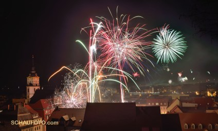 Feuerwerk am 1.1.2014 in Weißenfels