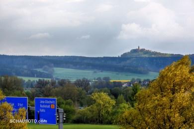 Balkonblick zur Leuchtenburg