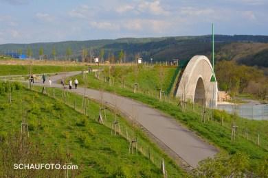 Balkonblick zum Tunnel-Westende.