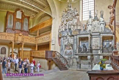 Im fein restaurierten Rest der Gosecker Klosterkirche.