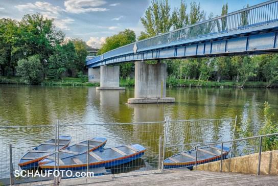 Ruderboote hinter Gittern - ab übermorgen frei zugänglich.
