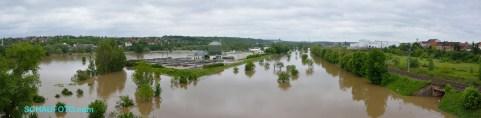 Saale-Hochwasser im Juni 2013
