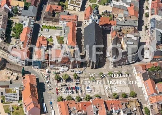 Der Weißenfelser Markt mit der Rathaus-Baustelle als Titelbild.
