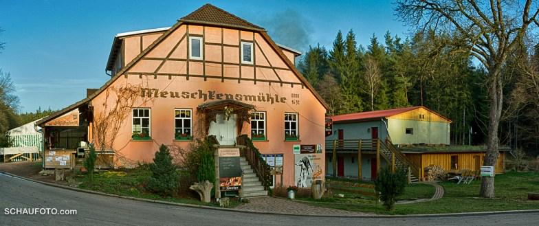 """Die """"Meuschkenmühle"""" hatte leider geschlossen."""